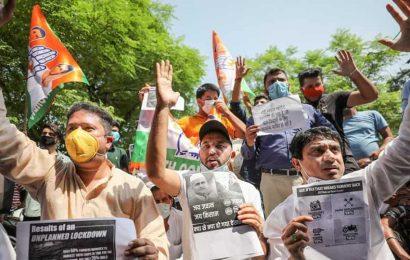 Youth Congress protests farm bills in Jammu, threatens mass agitation in J-K