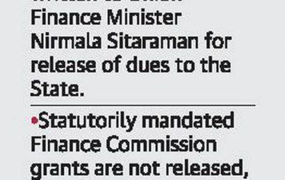 State seeks immediate release of ₹ 1,433 crore