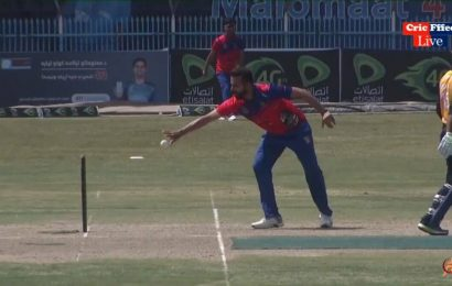 Mankad in Shpageeza Cricket League: Dawlat Zadran runs out Noor Ali at non-striker's end