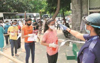 NEET 2020: Social distancing inside, crowd outside as 16 lakh take NEET