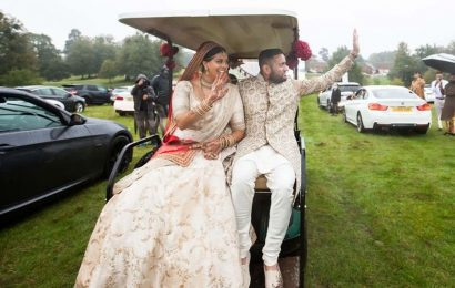 Couple in UK pull off COVID-secure drive-in wedding