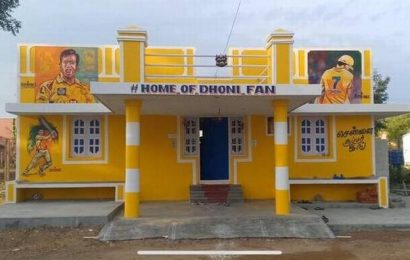 Die-hard CSK fan in Cuddalore district paints his house yellow