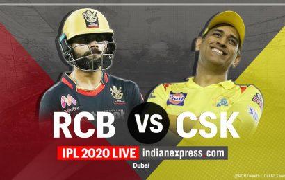 IPL 2020 Live Score, RCB vs CSK Live Cricket Score: Bangalore opt to bat first