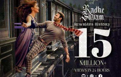 Beats of Radhe Shyam sets new benchmarks! Crosses 15 million cumulative views