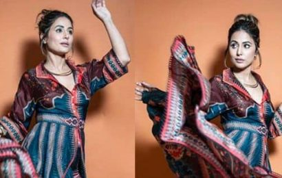 Bigg Boss 14: Hina Khan wore a Rs. 52K printed shirt dress on her last day inside the house — view pic