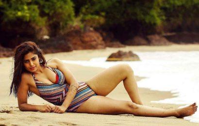 H*t Lesbian beauty sensuous pose in bikini