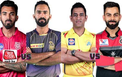 KXIP vs KKR, CSK vs RCB Predicted Playing 11, IPL 2020 Live Updates: Punjab look to halt four-match losing streak