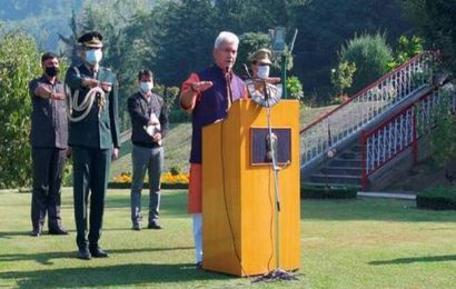 Jobs, opportunities for misguided youth ready to shun violence, says J&K L-G