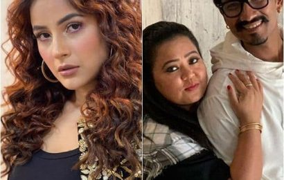Shehnaaz Gill scolds Haarsh Limbachiyaa for asking hugs and kisses from her, Bharti Singh grabs his collar – watch video