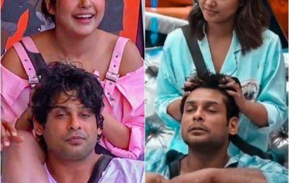 Bigg Boss 14: Hina Khan follows Shehnaaz Gill's footsteps and gives Sidharth Shukla a power 'champi'