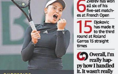 Ostapenko cuts short Pliskova's stay