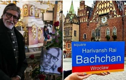 Amitabh Bachchan shares pic of city square in Poland named after his father: 'Moment of pride for family and India'