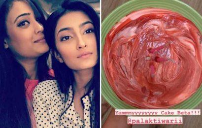 Shweta Tiwari shares photo of cake baked by daughter Palak, reveals plan to 'pamper' herself on birthday