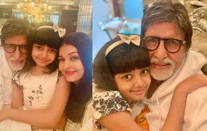 Inside Amitabh Bachchan's 78th birthday party: Aishwarya Rai decks up in white, Aaradhya gives dearest dadaji a hug