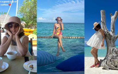 Taapsee Pannu strikes some cool poses during Maldives vacation, says 'after all we are tourists'. See pics
