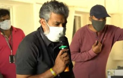 SS Rajamouli returns to sets to begin shooting RRR, teases with a video. Watch