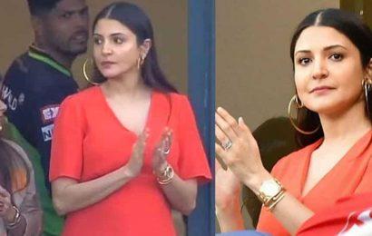 Anushka Sharma dons red as she cheers for husband Virat Kohli's Royal Challengers Bangalore during IPL2020, see pics