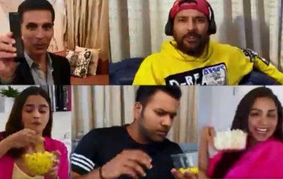 Alia Bhatt calls Akshay Kumar a 'show off' as he gets ready to watch Laxmmi Bomb with Kiara Advani, Yuvraj Singh, Rohit Sharma, Kunal