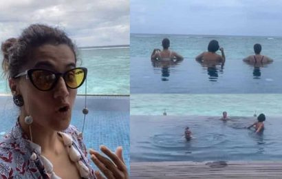 Taapsee Pannu flies off to Maldives with her girl gang, her stunning vacation pics will leave you green with envy