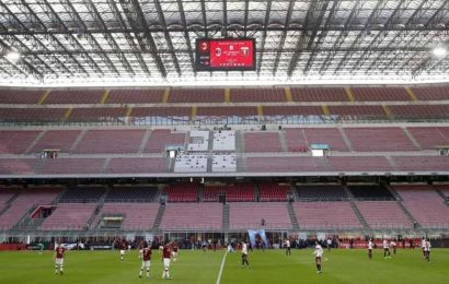 Italy going back to games with no fans due to virus cases