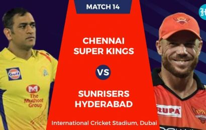 CSK vs SRH Live Score, IPL 2020 Match Today: MS Dhoni returns to action against Sunrisers Hyderabad