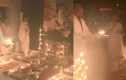 Sanjay Dutt performs elaborate puja on Dussehra, Maanayata Dutt says 'You are my strength, my pride, my Ram'