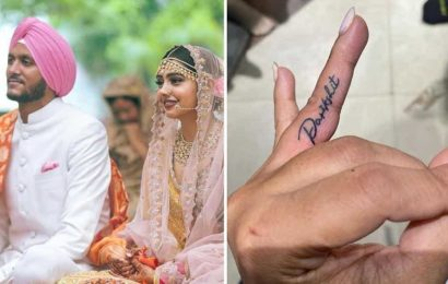 Niti Taylor gets husband Parikshit Bawa's name inked: 'This is my second month anniversary gift to my better half'
