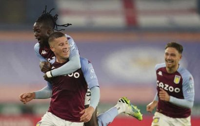 Ross Barkley scores in stoppage time as Villa beats Leicester 1-0