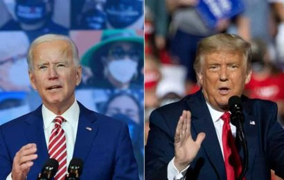 Trump addresses smallest rally, Biden hits him for blaming doctors for Covid toll