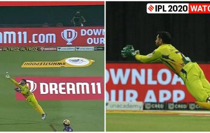 With gloves off, MS Dhoni plucks a fine catch as birthday boy Bravo reaches 150 IPL wickets