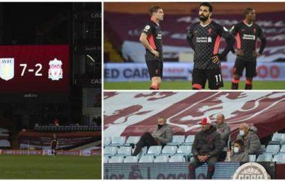 Liverpool embarrassed in 7-2 loss to Aston Villa in Premier League