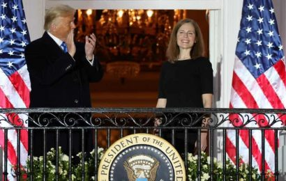 Amy Coney Barrett sworn in at Supreme Court as issues important to Donald Trump await
