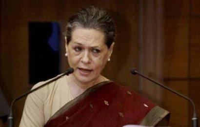 Modi govt. using organs of State to target Opposition: Sonia Gandhi
