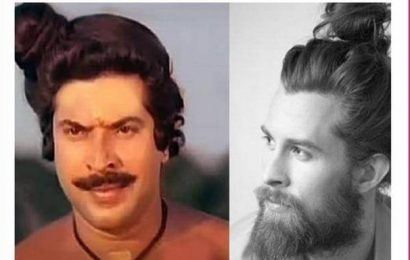 Mammootty and the man bun: Pink Lungi's memes pay a funny tribute to style trends in Malayalam cinema