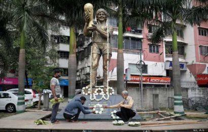 Indian fans mourn Maradona in soccer-mad Kolkata