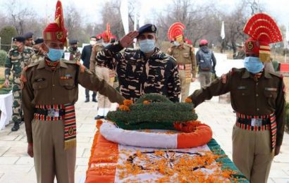 Army pays tributes to four soldiers killed in ceasefire violations