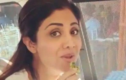 Shilpa Shetty does the most Mumbai thing ever by having a vada pav – watch video
