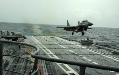 Indian Navy's MiG-29K trainer aircraft crashes into sea; one pilot rescued, another missing