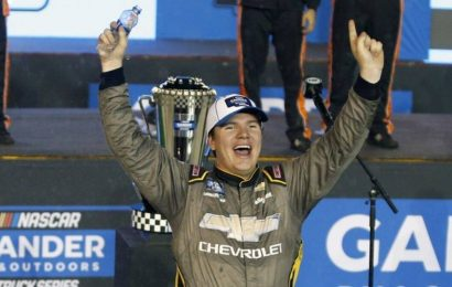 Sheldon Creed snatches Truck Series title from teammate in overtime