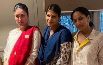 Inside Kareena Kapoor Khan's Diwali party: Mom-to-be looks radiant in new pics with mother Babita, Masaba Gupta