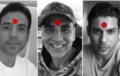 Bigg Boss 13's Sidharth Shukla sports a red bindi as he joins Akshay Kumar's Laxmii campaign