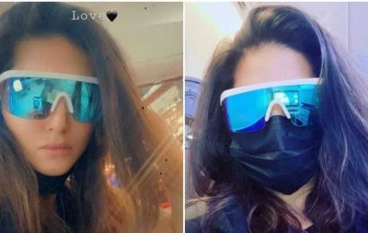 Sunny Leone is back in Mumbai after 6 months, says she left with a 'heavy heart' as her family is still in Los Angeles. See pics