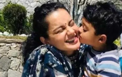 Kangana Ranaut poses with nephew Prithvi as they deck up for her cousin's wedding, see pics