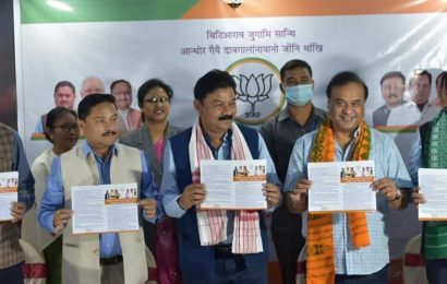 BJP promises implementation of Bodo accord, development ahead of BTC polls in Assam