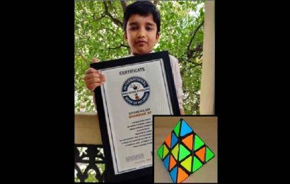 9-year-old from Hyderabad solves Pyraminxs in unique ways, bags two international records