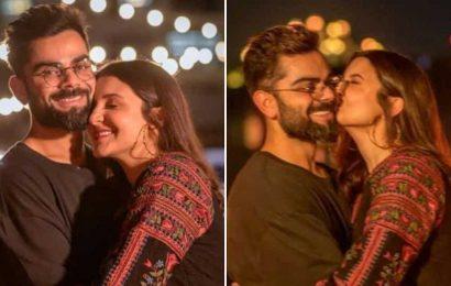 Anushka Sharma showers Virat Kohli with love and kisses on his birthday. See pics