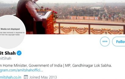 Twitter removes Amit Shah's profile picture citing copyright violation, reinstates later