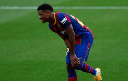Ansu Fati tears meniscus in left knee in Barcelona's win over Real Betis