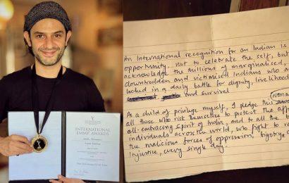 Arjun Mathur shares International Emmy Awards' speech he 'didn't get a chance to make'