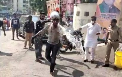 Youth sets himself ablaze near BJP headquarters in Telangana